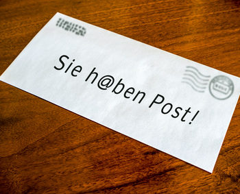 Postservice (eigener Briefkasten oder Domizil)